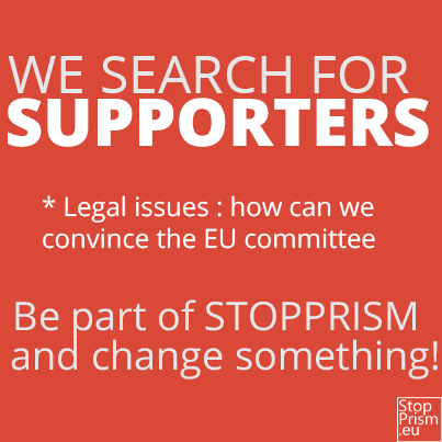 Team Snowden: We search for supporters; be part of STOPPRISM